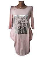 """Платье женское (трикотаж) дерево пудра Турция Розница """"Interes"""" B-1184"""