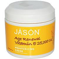 Jason Natural, Age Renewal Vitamin E, Увлажняющий крем, 25 000 МЕ, 4 унций (113 г)