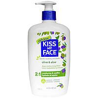 Kiss My Face, Глубоко увлажняющий лосьон 2 в 1, оливковое масло и алоэ, 16 жидких унций (473 мл)