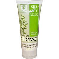 Kiss My Face, SH, увлажняющая пена для бритья, зеленый чай и бамбук, 3,4 жидких унций (100 мл)