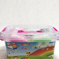 Тесто для лепки Детский пластилин Super Light Clay Niboshi 5D 24 цветов 200-19817597