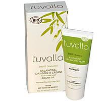 Luvalla Certified Organic, Регулирующий баланс кожи крем день / ночь, 1,4 унции (40 г)