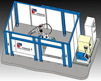 Роботизированная сварочная ячейка Nr. 20141 Установка с двумя станциями сварки (неподвижные столы)