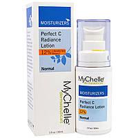 MyChelle Dermaceuticals, Идеальное сияние C, лосьон с L-аскорбиновой кислотой, для нормальной кожи, 1 жидкая унция (30 мл)