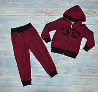 Спортивный костюм 104 см (104, 110 см) на мальчика бордовый, Турция, Pelops