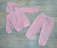 Спортивный костюм велюровый 92 см на девочку, розовый,  детсий