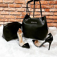 Черный набор сумка, туфли  Michael Kors