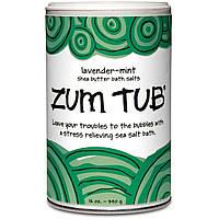 Indigo Wild, Zum Tub, Соль для ванн с маслом ши, лаванда-мята, 12 унций (340 г)