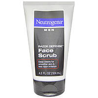 Neutrogena, Острая защита, мужской скраб для лица, 4,2 жидких унций (124 мл)