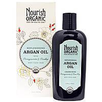 Nourish Organic, Регенерирующее аргановое масло с гранатом и плодами шиповника, 3,4 унции (101 мл)