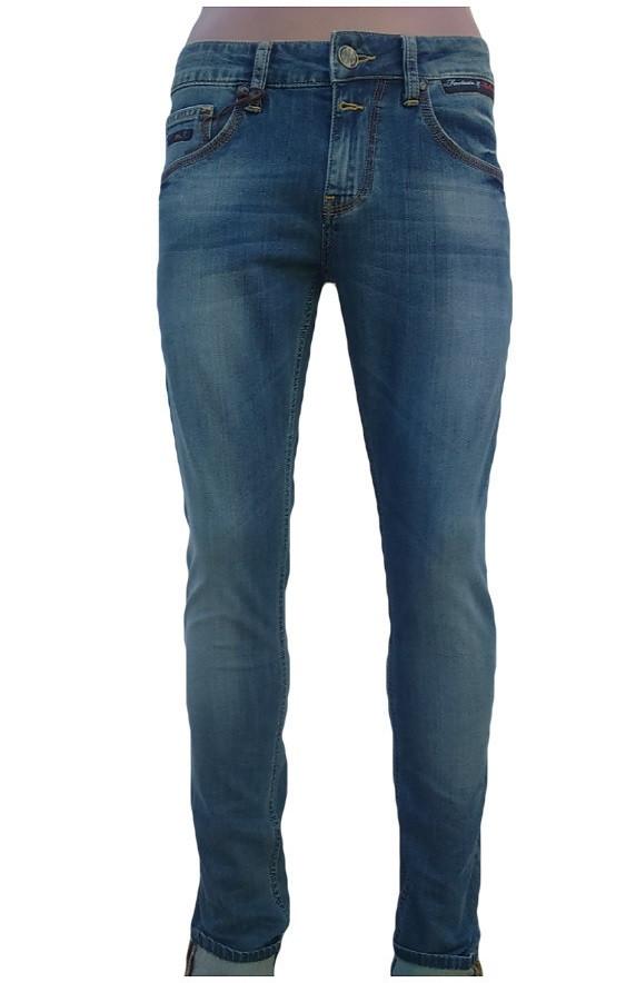 Узкие мужские джинсы Franco Benussi 13-050 Blue