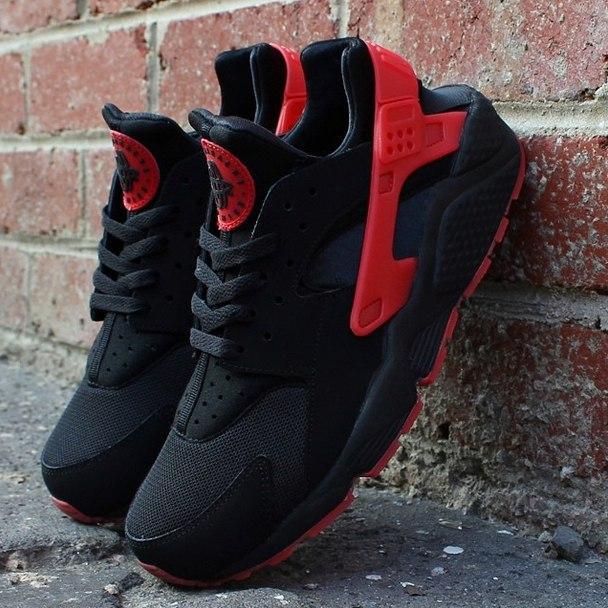 6081c40760d397 Купить Кроссовки мужские Nike Air Huarache Hyper Punch черно-красные ...