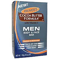 Palmers, Мужская формула с какао-маслом, мыло для лица и тела, 5,3 унции (150 г)