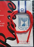 Оберег с Израиля от сглаза,порчи,зависти.Красная освященная нить на запястье