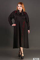 Модное платье большого размера черного цвета