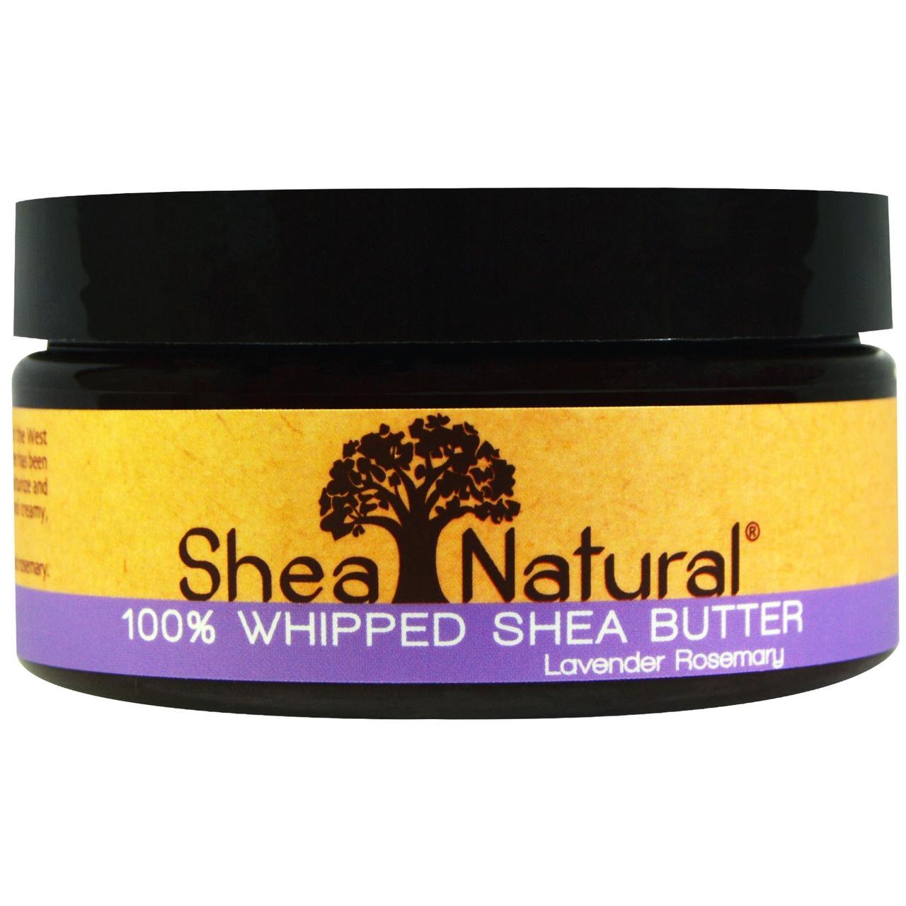 Shea Natural, 100% взбитое масло ши, лаванда-розмарин, 6,3 унций (178 г) - Интернет-магазин для здоровой жизни в Киеве