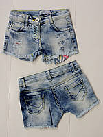 Джинсовые шорты для девочки  2.3,4,5,6,7,8 лет