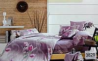 Сатиновое постельное белье семейное ELWAY 3829