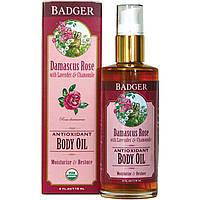 Badger Company, Антиоксидантное масло для тела, дамасская роза, 4 жидких унций (118 мл)