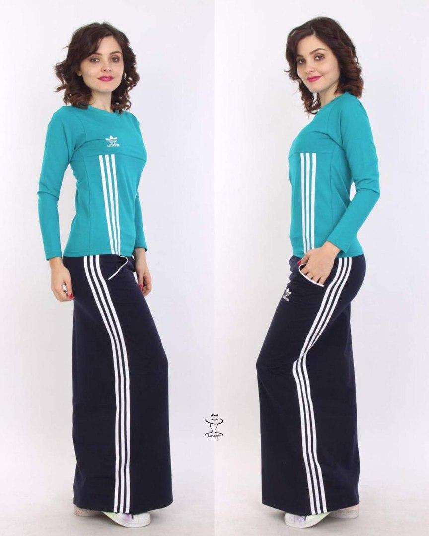 Спортивный костюм женский с длинной юбкой