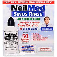 NeilMed, Cредство для полоскания носа, 50 пакетиков + бутылка, 1 комплект