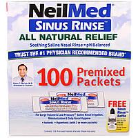 NeilMed, Средство для полоскания носа, натуральное средство для облегчения, 100 пакетиков