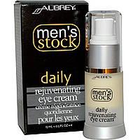 Aubrey Organics, Mens Stock, Омолаживающий крем под глаза, 0,5 жидких унций (15 мл)