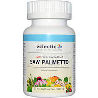Eclectic Institute, Свежевымороженный со пальметто, 600 мг, 90 капсул на растительной основе