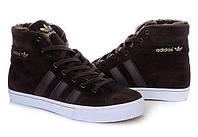 Зимние мужские кроссовки Adidas AdiTennis High Fur