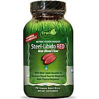 Irwin Naturals, Steel-Libido Red, 75 жидких желатиновых капсул