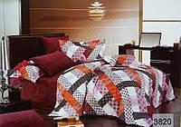 Сатиновое постельное белье семейное ELWAY 3820