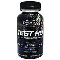 Muscletech, Test HD, мощнейший усилитель выработки тестостерона, 90 капсуловидных таблеток с быстрым высвобождением