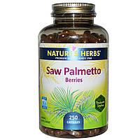 Natures Herbs, Ягоды со пальметто, 250 капсул