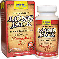Natural Balance, Long Jack, PowerMax 200, 60 вегетерианских капсул