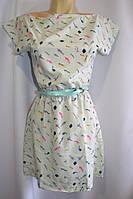 Платье женское шифоновое рыбки