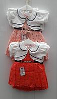 Летнее платье с болеро, для девочки, оптом