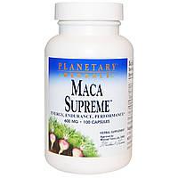 Planetary Herbals, Maca Supreme, энергия, выносливость, производительность, 600 мг, 100 капсул