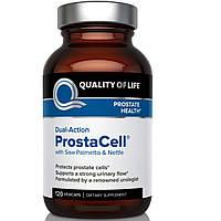 Quality of Life Labs, ProstaCell двойного действия с пальмой сереноа и крапивой, 120 вегетарианских капсул