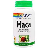 Solaray, Мака, 525 мг, 100 вегетарианских капсул