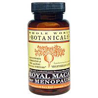 Whole World Botanicals, Королевская мака при менопаузе, 500 мг, 60 растительных капсул