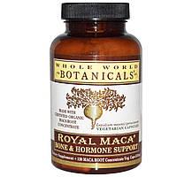 Whole World Botanicals, Королевская мака, для костей и гормональной поддержки, 120 капсул на растительной основе