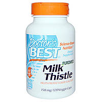 Doctors Best, Euromed Milk Thistle, 150 mg , 120 Veggie Caps