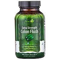 Irwin Naturals, Усиленное промывание кишечника, сильнодействующее слабительное, 60 мягких желатиновых капсул с жидкостью