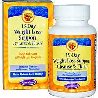 Natures Secret, 15-ти дневная программа по снижению веса, Средство для очищения во время похудения, 60 таблеток