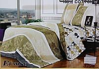 Сатиновое постельное белье семейное ELWAY 3798