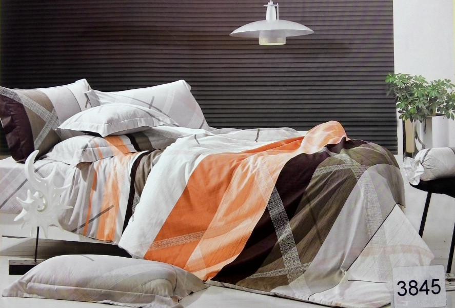 Сатиновое постельное белье семейное ELWAY 3845