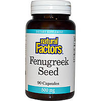 Natural Factors, Семя пажитника, 500 мг, 90 капсул