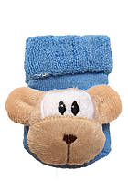 Носки с игрушкой-погремушкой, 0-6 мес обезьянка, синий