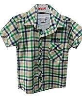 Рубашка и футболка детская на мальчика клетка кеды (лето)