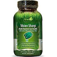 Irwin Naturals, Vision Sharp, Питательные вещества для здоровья глаз, 42 жидких гелевых капсулы